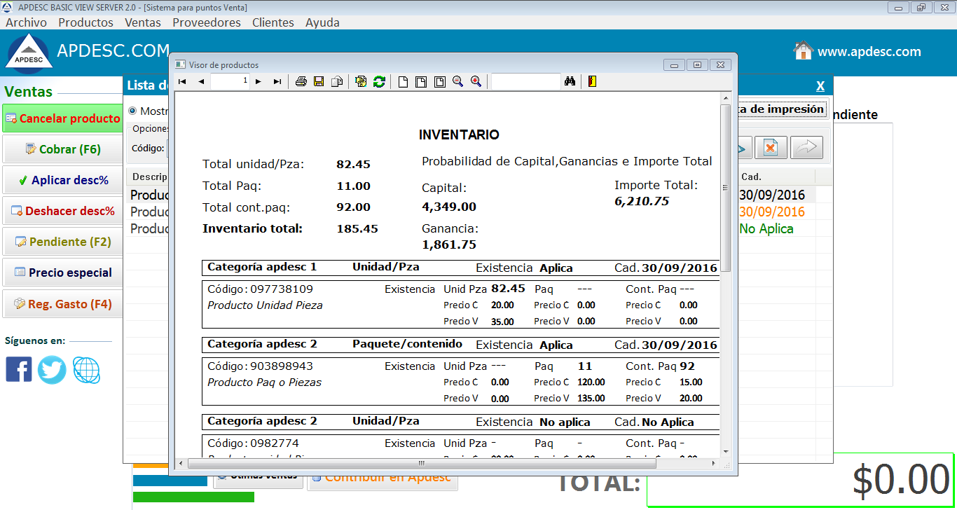 Inventarios 2 Apdesc Basic View Server 2.0