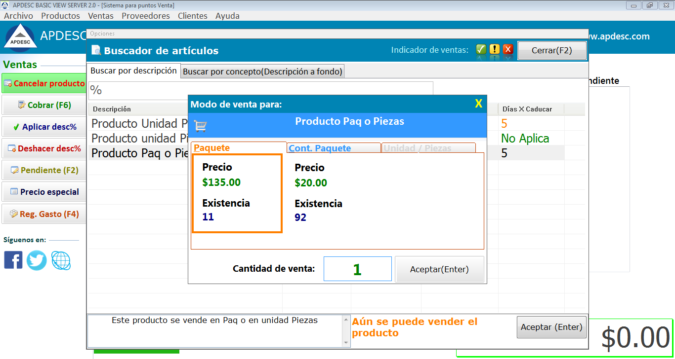 Ventas 1 Apdesc Basic View Server 2.0
