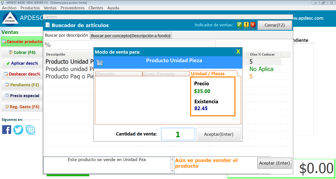 Ventas 2 Apdesc Basic View Server 2.0